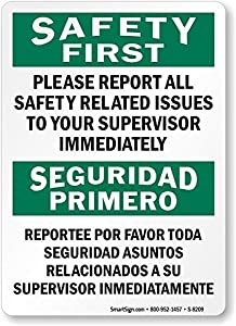 Amazon.com: Safety First: Please Report All Safety Related Issues, To
