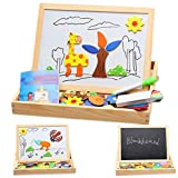 Baby Wood Educational Toys Drawing Board Puzzle Magnetic Jigsaw Board Games
