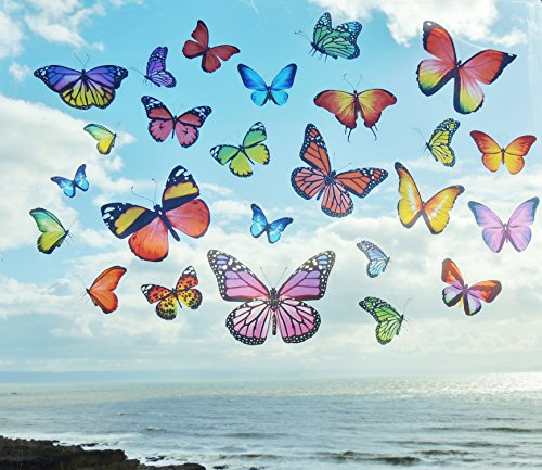 realistic-colourful-butterflies-butterfly-static-cling-reusable-window-stickers-stained-stain-glass-