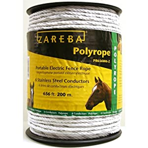 Zareba PR656W6-Z Polyrope 200-Meter 6-Conductor Portable Electric-Fence Rope at Sears.com