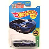 Hot Wheels 2016 HW Exotics '17 Ford GT 73/250, Blue (Super Treasure Hunt)