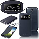 Brand New Stylish Samsung Galaxy NOTE 3 N9000 S VIEW Window Flip Case Cover with RETRACTABLE Stylus Touch Pen. Screen Protector and Polishing Cloth (Pebble Blue)