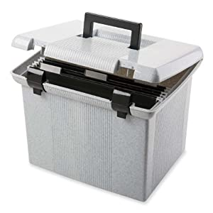 Pendaflex 41747 Portfile Portable File Box, Granite, 1 Each(41747)