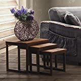 ZUO ERA Civic Center Nesting Tables, Distressed Natural