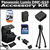 Accessory Kit For The Panasonic Lumix DMC-G10 DMC-GF1C DMC-GH1 DMC-G1 DMC-G2 Digital Camera Includes 32GB High Speed SD Memory Card + High Speed 2.0 USB Card Reader + Extended Replacement DMW-BLB13 (1500 mAH) Battery + Ac/Dc Rapid Charger + Case + More