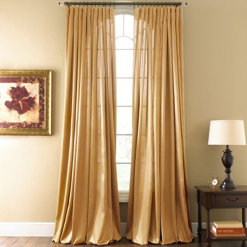 Amazon.com - ROYAL VELVET Hilton Rod-Pocket Curtain Panel, Gold ...