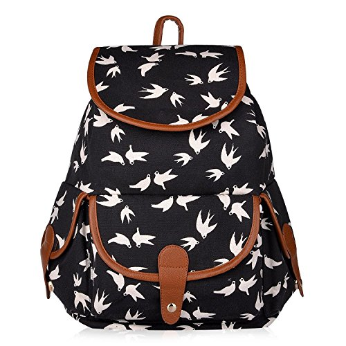 Vbiger-Canvas-Backpack-for-Women-Girls-Boys-Casual-Book-Bag-Sports-Daypack