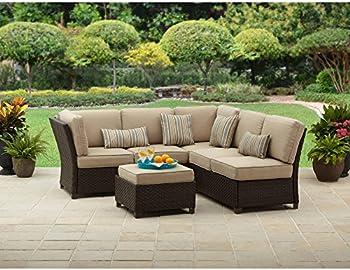 3-Piece Outdoor Wicker Sectional Sofa Set