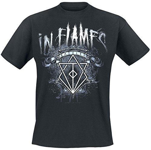 IN FLAMES -  T-shirt - Uomo Black X-Large