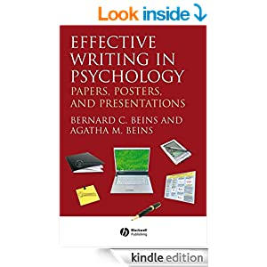 effective writing in psychology Writing to clients and referring professionalsis the first book on effective  writing style and grammar structured expressly for the psychologist-assessor.