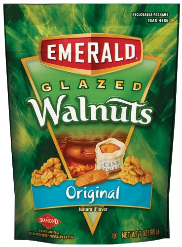 Emerald Original Glazed Walnuts 7 Ounce Pouches Pack of 6
