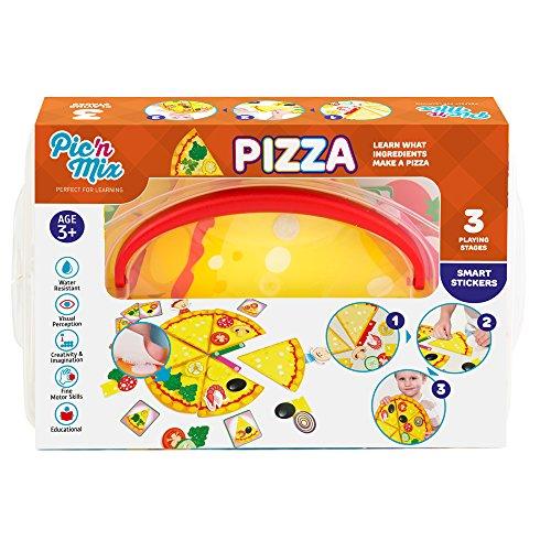Picnmix PIZZA Puzzle Adesivi Giocattoli Educativi per bambini dai 3 ai 7 anni