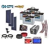 3360 Watt Solar Panel System -w/ 4 Batteries Complete Kit DIY