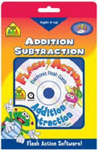 SCHOOL ZONE PUBLISHING SZP08403 FLASH ACTION ADDITION/SUBTRACTION-AGES 6 AND UP SOFTWARE