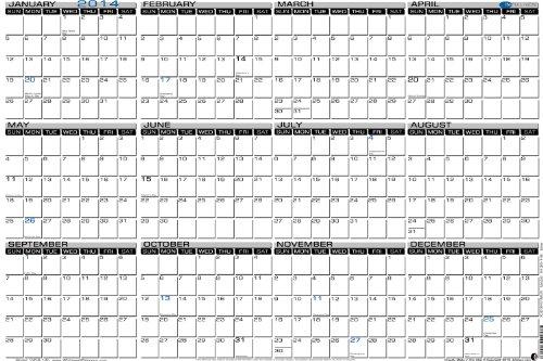 Year Calendar Dry Erase : Extra large dry erase online shopping office depot