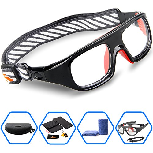 Cheapest Prices! Ponosoon Sports Goggles Glasses for Basketball Football Volleyball Hockey 1824