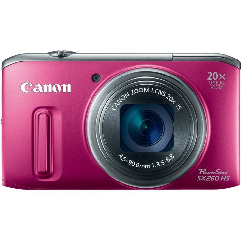 Canon Powershot Sx260 Hs 12.1 Mp Cmos Digital Camera With 20X Image Stabilized Zoom 25Mm Wide-Angle Optical Lens And 1080P Hd Video (Red) front-592616