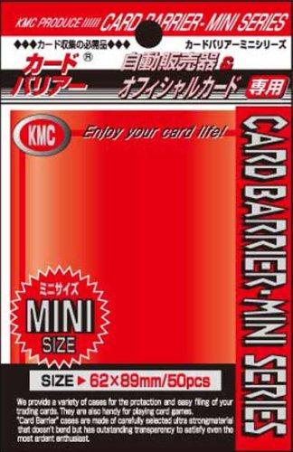 KMC Sleeves MS1201 Deck Protectors Mini Metallic Red, Pack - 50 - 1