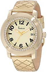 Freelook Women's HA1812G-3 Quilted Gold Leather Watch