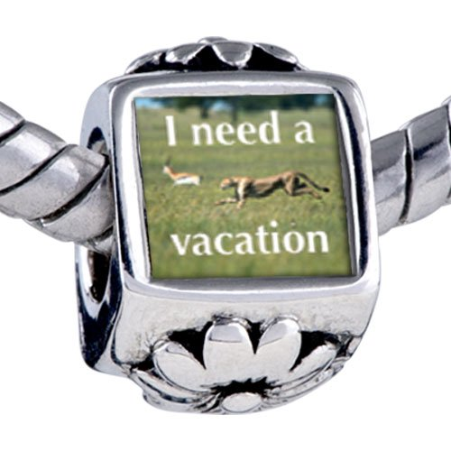 Pugster Bead I Need A Vacation Beads Fits Pandora Bracelet