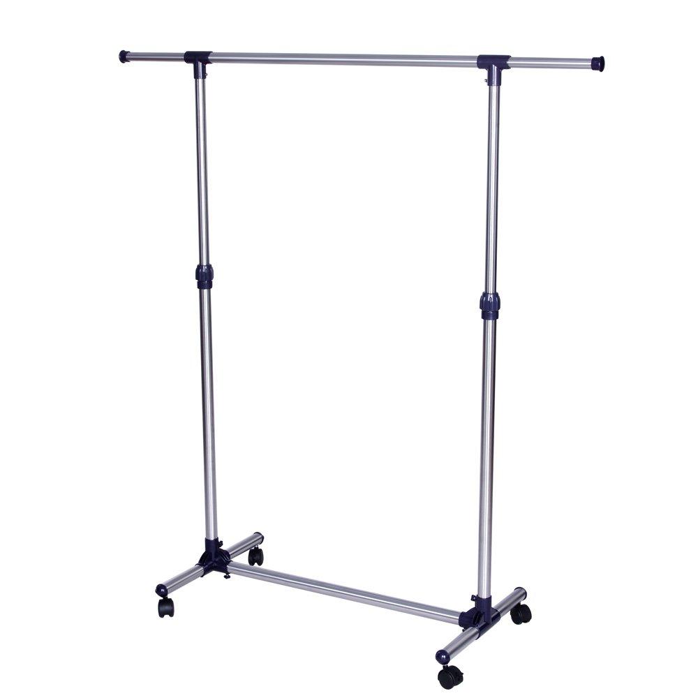 Songmics LLR01L - Barra para colgar ropa (con ruedas, altura ajustable entre 97 y 165 cm)   Comentarios de clientes y más información