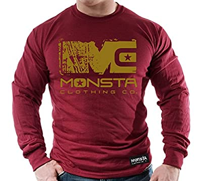 (Garnet/Gold) MC-Monsta-253-Longsleeve T-Shirt