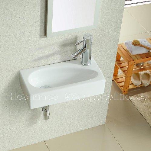 BATHROOM CLOAKROOM WALL HUNG BASIN SINK HS17L
