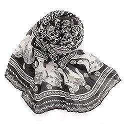 Scarves,Eenkula Hot Autumn Winter Ladies Neck Stole Elephant Print Long Scarf Shawl Wrap Pashmina