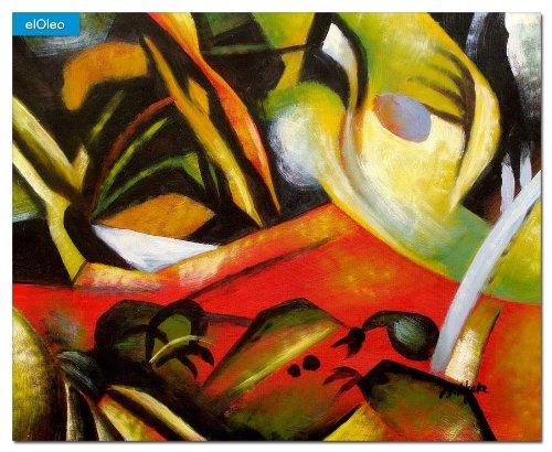 elOleo August Macke – Der Sturmes 40×50 Gemälde auf Leinwand handgemalt 83129A online kaufen