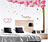 Cherry tree assembled large romantic bedroom wall stickers AY212