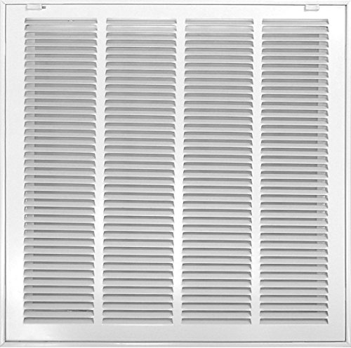 Accord ABRFWH2020 Return Filter Grille with 1/2-Inch Fin Louvered, 20-Inch x 20-Inch(Duct Opening Measurements), White (Return Vent compare prices)