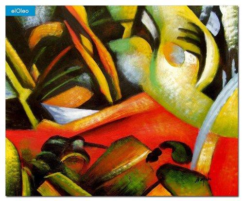 elOleo August Macke – Der Sturmes 50×60 Gemälde auf Leinwand handgemalt 83201A günstig bestellen