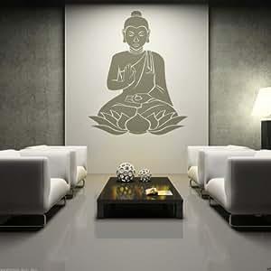 Wt952a wandtattoo buddha buddhismus religion und glauben for Buddha deko wohnzimmer