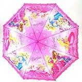【ギフト包装不可】Barbie バービー ジャンプ傘 50cm ピンク