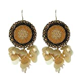Hangin by a Thread Round Earrings (Femme Frivolity)