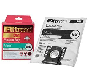 Filtrete Miele K/K Synthetic Bags and Filters, 5 Bags and 2 Filters