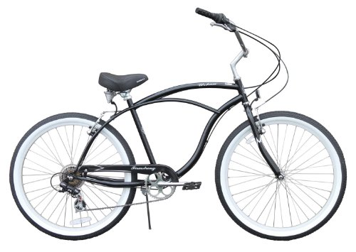 Men's Urban Man 7 Speed Beach Cruiser Bike Color: Black