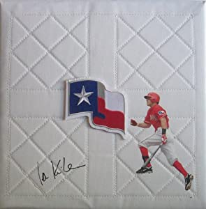 Ian Kinsler Autographed Signed Custom Photo Texas Rangers Logo Full Size Base, Proof... by Southwestconnection-Memorabilia