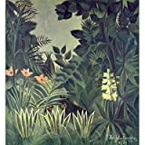 Henri Rousseau (Jungle on the equator) Art Poster Print
