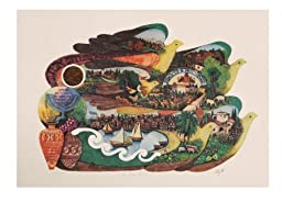 On Dove\'s Wings - Amram Ebgi - Limited Edition Lithograph