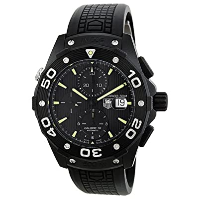 Tag Heuer Aquaracer Chronograph Automatic Black Dial Titanium Mens Watch CAJ2180.FT6023