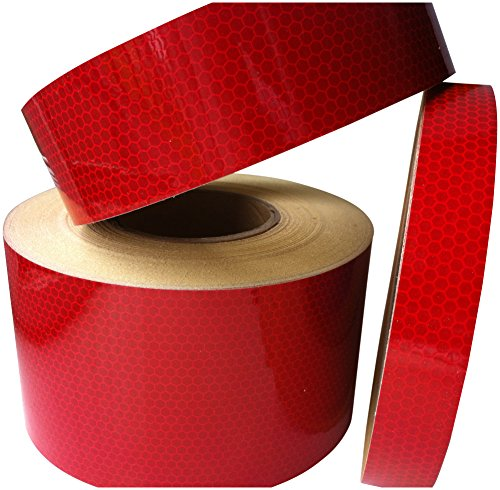 Hi Viz Hi Intensity Grade Red Reflective Tape 50mm X 5M