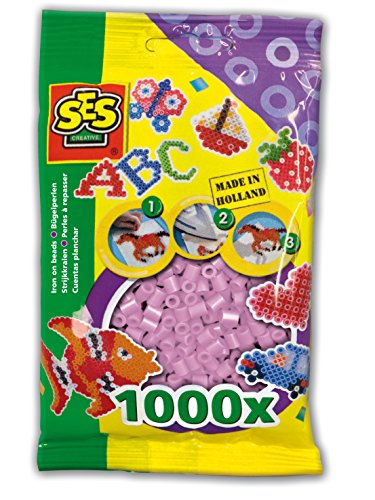SES Creative Iron On Beads, Pearl, 1000-Pack