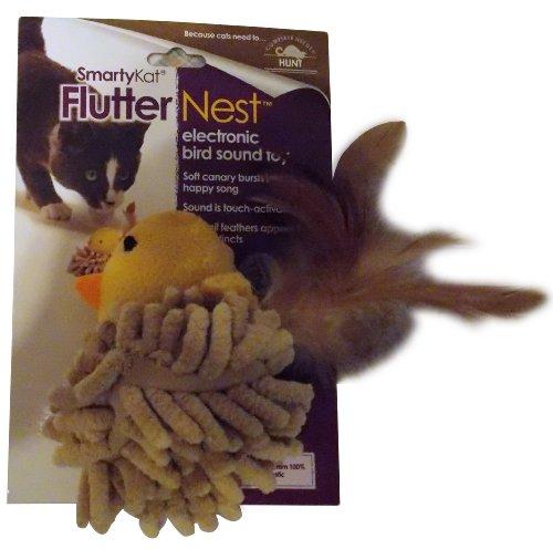 Good SmartyKat FlutterNest Electronic Bird-Sound Cat Toy