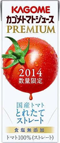 [数量限定] カゴメ トマトジュースプレミアム 食塩無添加 200ml×24本