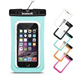 Inateck Waterproof Case for iPhone 6s, 6s Plus, iPhone 6, 6 Plus, 5S, 5C, 5, Samsung Galaxy S6, Galaxy Note 4/ 3/ 2 and More Smartphones with Screen Display Up to 5.7 Inch - Green