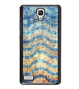Waves Pattern 2D Hard Polycarbonate Designer Back Case Cover for Xiaomi Redmi Note :: Xiaomi Redmi Note 4G