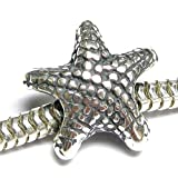 Sterling Silver Starfish Star Fish Focal Bead Charm For Pandora European Charm Bracelets