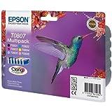 Epson T0807 Tintenpatronen Kolibri, Multipack, 6-farbig