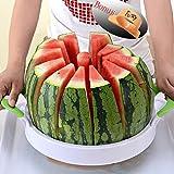 "Watermelon Slicer 15.7"" Large Stainless Steel Fruit Cantaloup Melon Slicer Cutter Peeler Corer Server for Home (Color: White, Tamaño: 38x28cm(Large))"